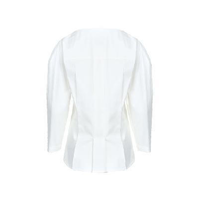 square neck blouse white